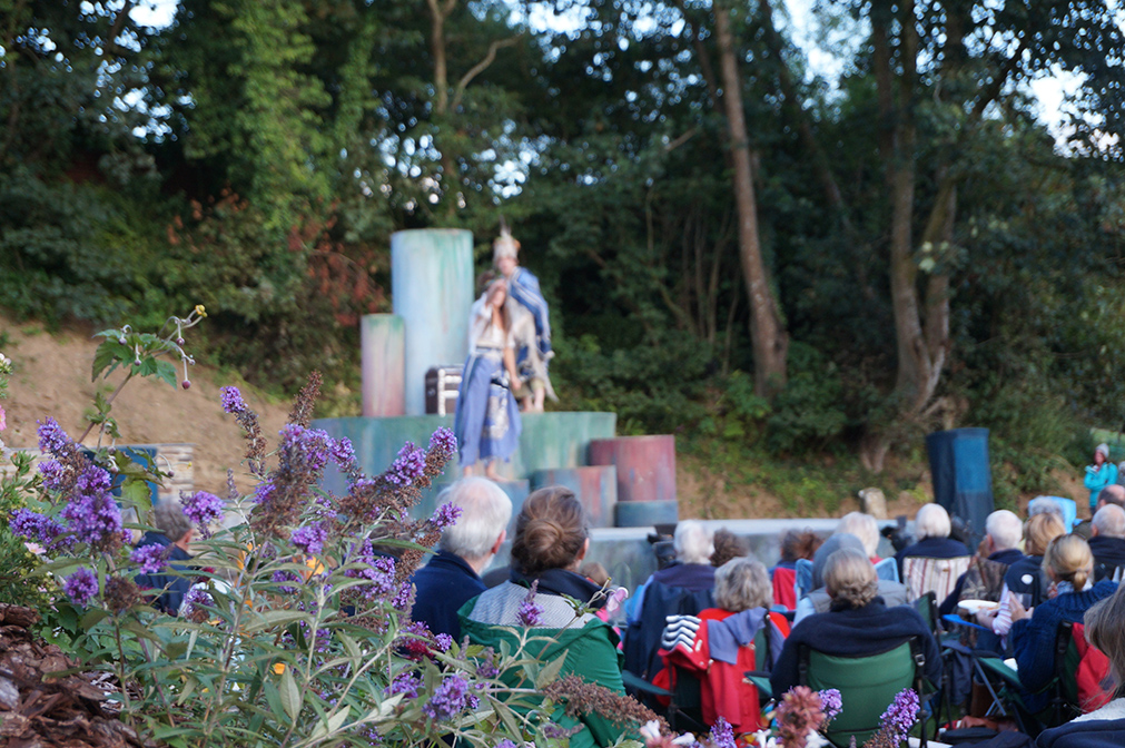 Outdoor open air theatre The Tempest by Miracle Theatre at Pengenna Manor event venue in Cornwall 02.jpg