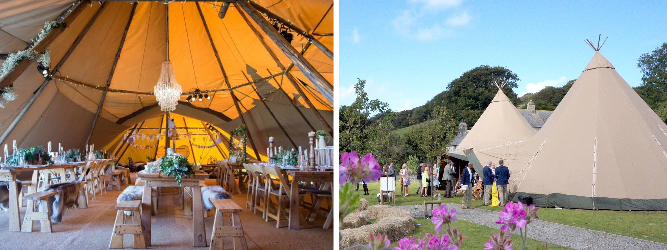 A World Inspired tent tipi on the lawn at Pengenna Manor.jpg