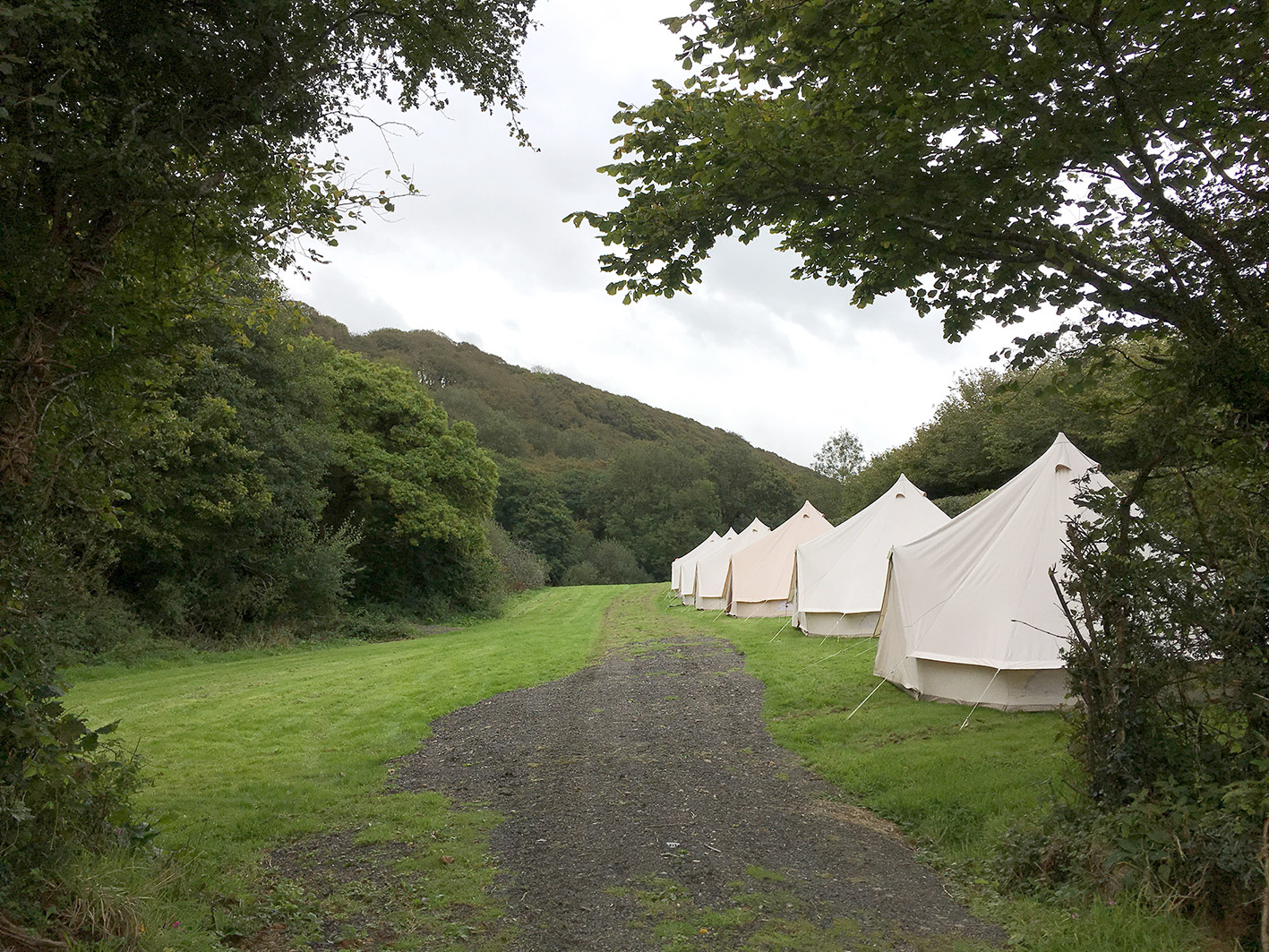 Wild camping meadow field with glamping tents at Pengenna Manor wedding venue in Cornwall.jpg