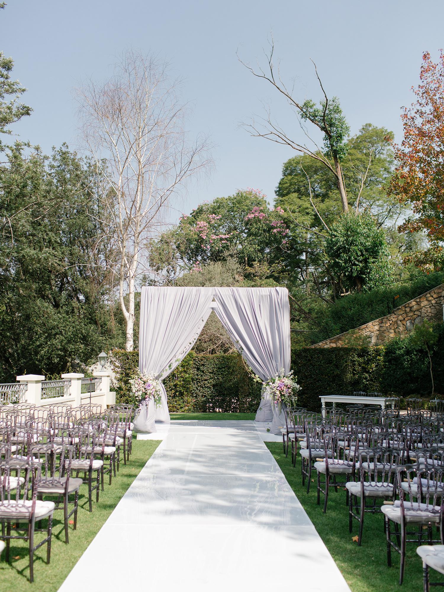 beautiful outdoor ceremonie four seasons johannesburg splendid wedding company