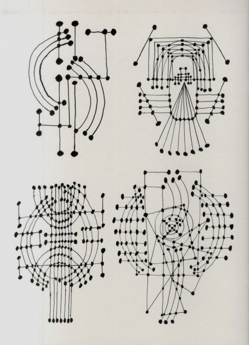 efedra :     Constellation (ink drawing), 1931 by  Pablo Picasso      We've just discovered this, doesn't it remind you of our Folk pattern? Great minds think alike Picasso ;)
