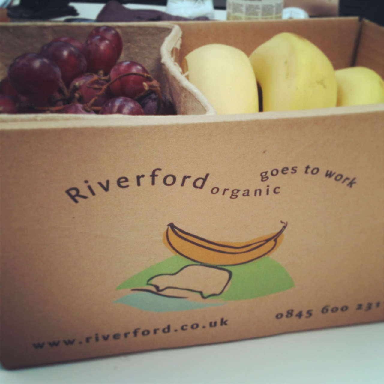 We're well on our way to our five a day here at Folk with our first fruit box delivery. Hurrah!