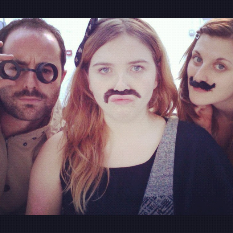 Movember might be for the boys but that doesn't stop the girls at Folk from joining in for a good cause, question is which is the realmoustache…