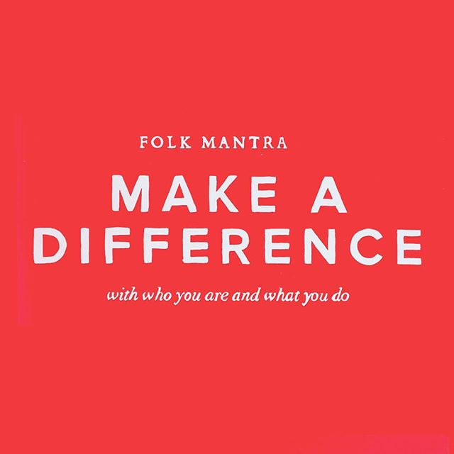 Make a difference • #folkmantra #folkwithpurpose #digitalagency #ecommerce