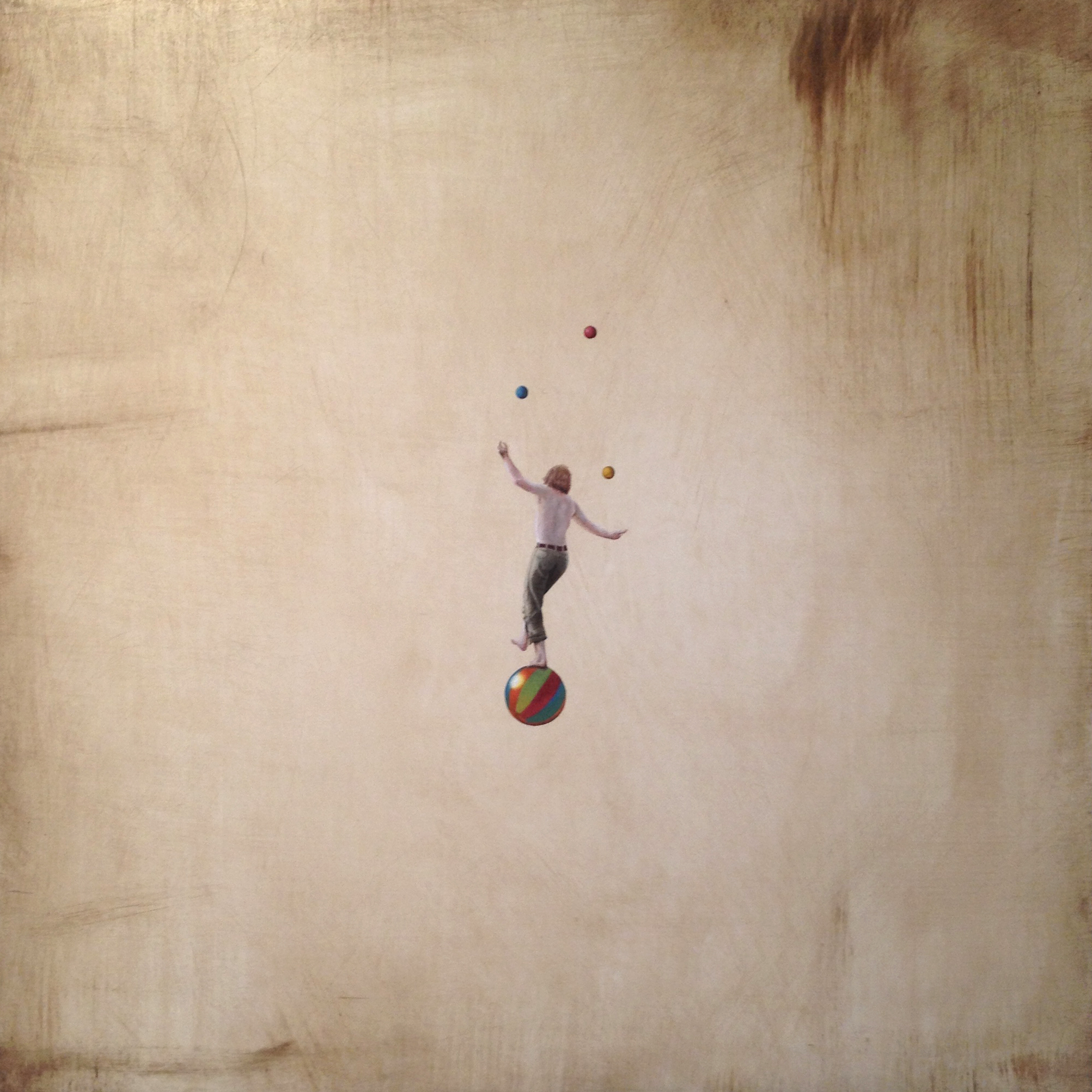 Won't You Meet Me In The Middle of The Air , 2015  Oil on gesso panel, 42x42cm