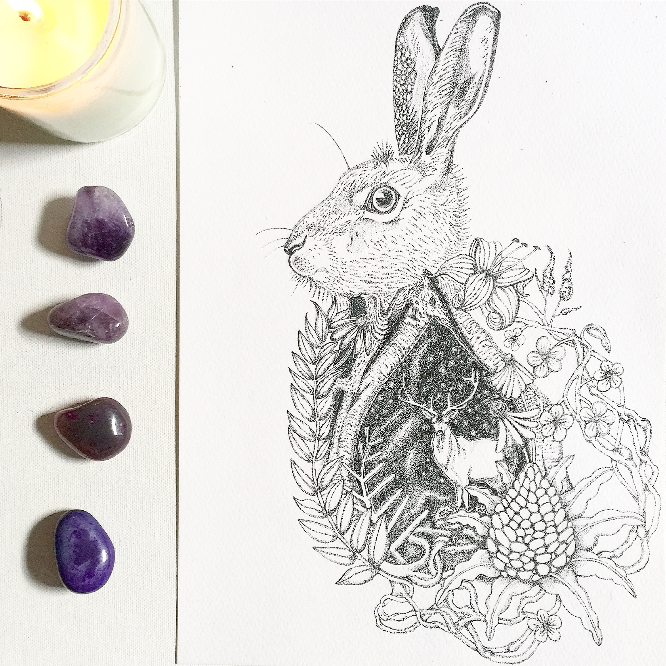 Happy Easter | Easter Drawing | Rabbit Art | Rabbit Drawing