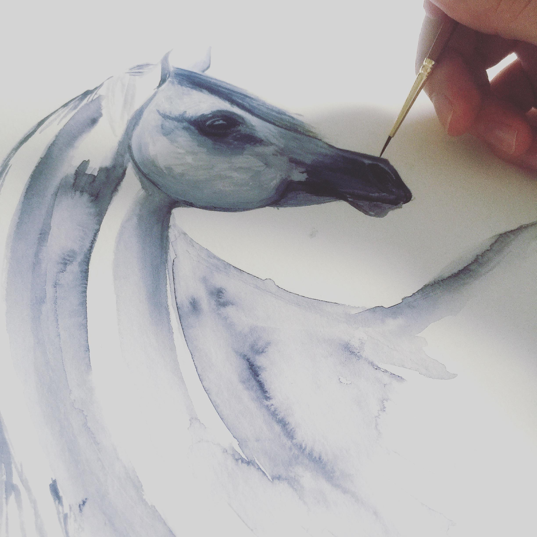 Arabian Horse Art   Watercolour Horse   Horse Art