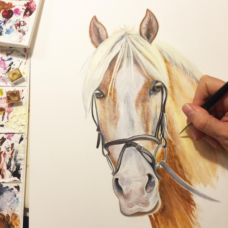 Palomino Horse  Horse Art   Art Commissions