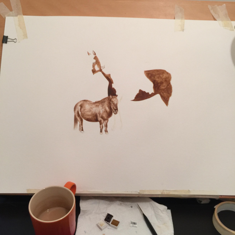 Watercolour Horse | Art Commissions | Horse Artwork