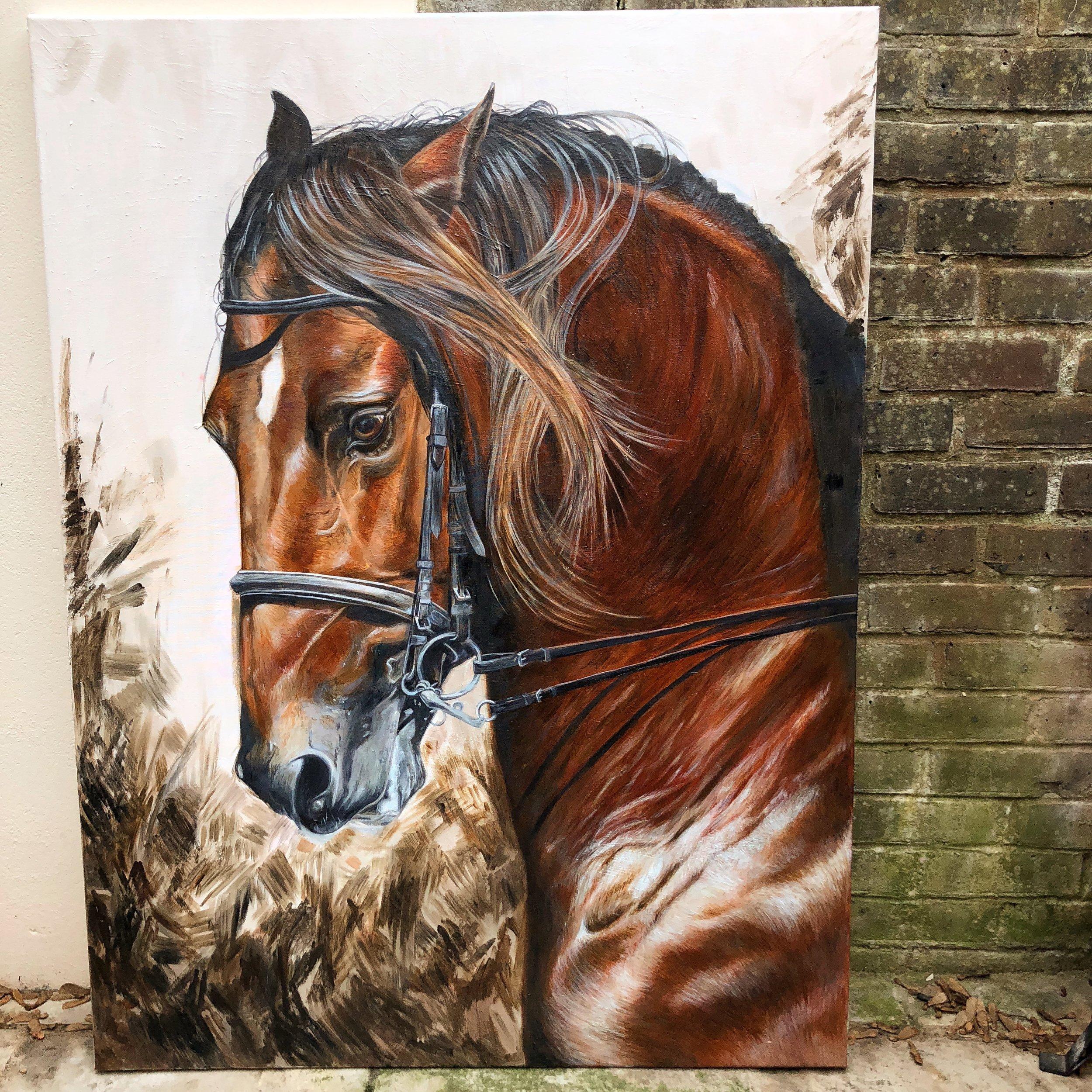 Horse Art   Horse Canvas Art   Large Horse Painting