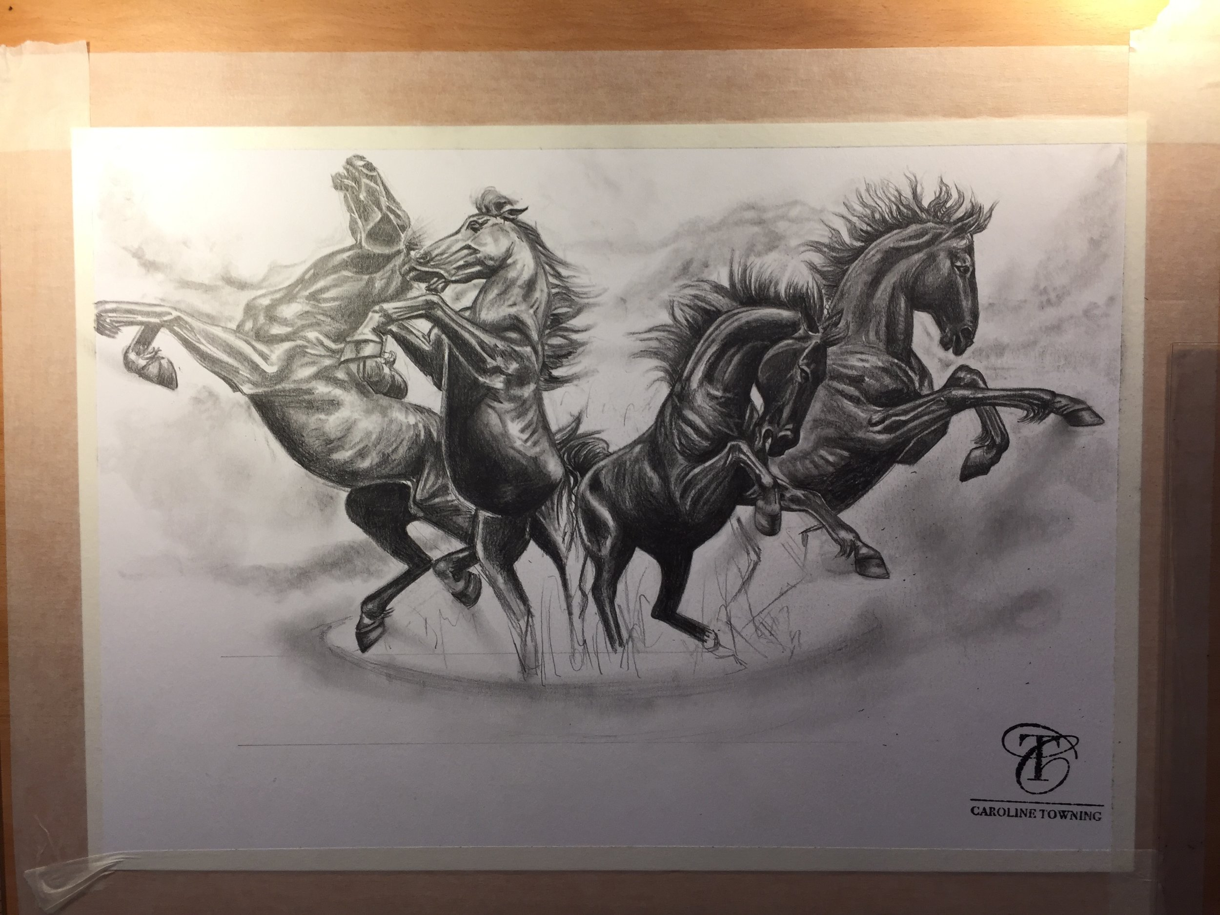 The Horses of Piccadilly | The Horses of Helios | Equine Art | London | Horse Art | Horse Wall Art | Horse Paintings on Canvas