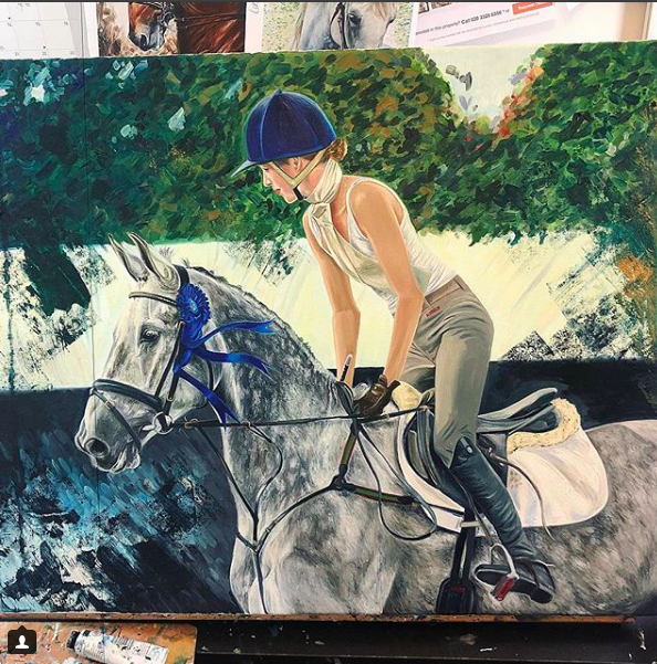 Edie Campbell | Horse Wall Art | Horse Artwork