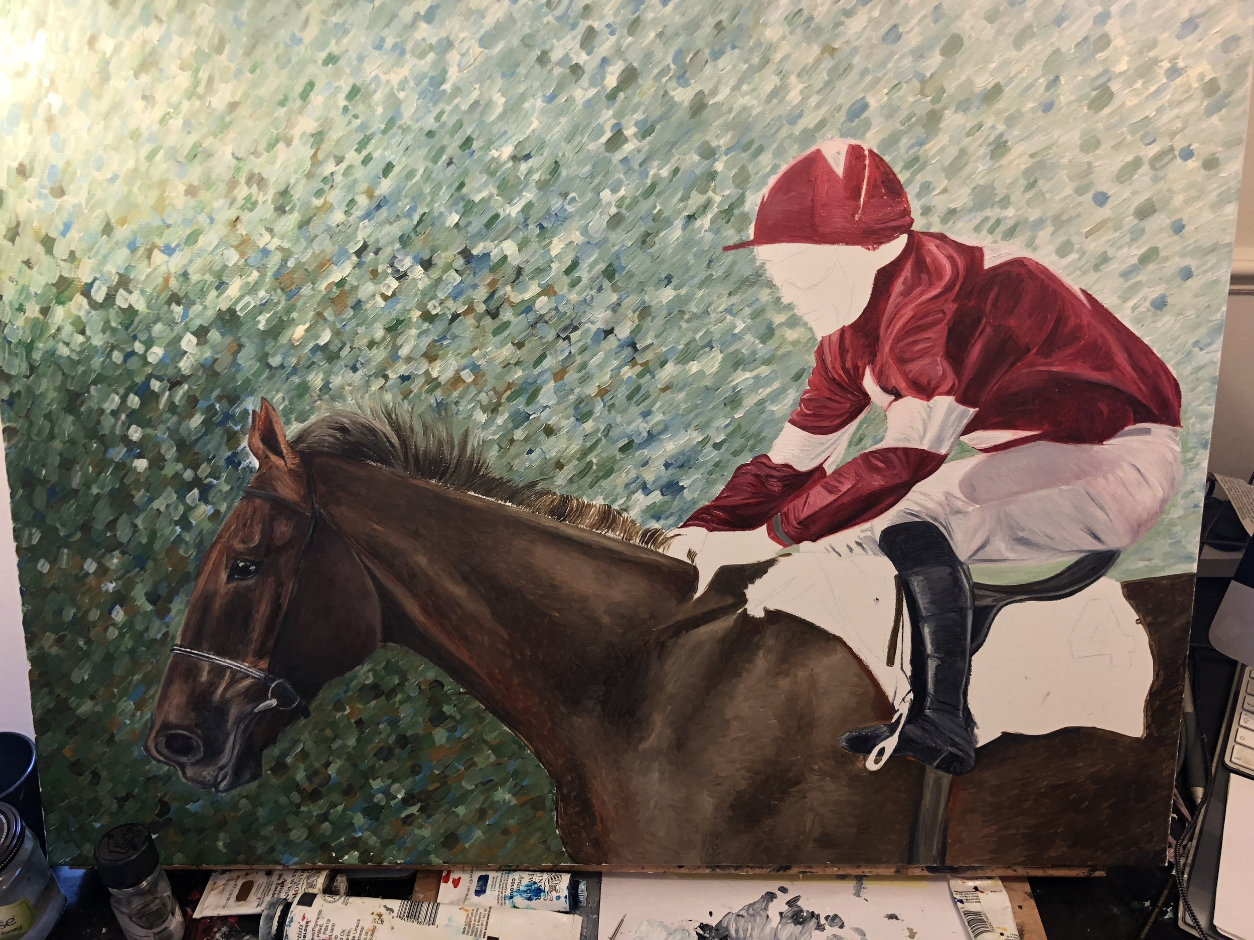 Davy Russell | Horse Racing Art | Horse Wall Art