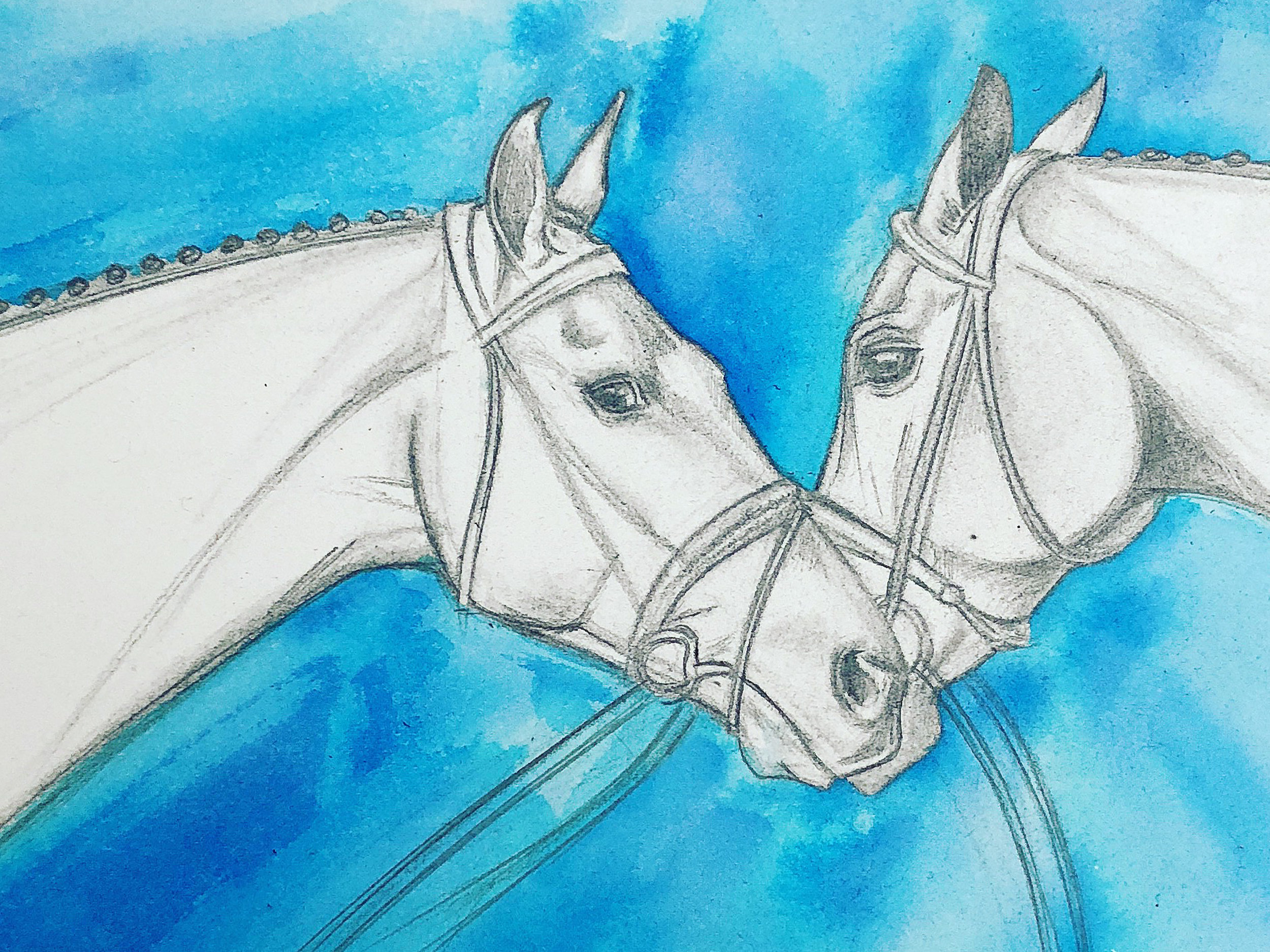 Thoroughbreds   Horse Racing Art   Horse Painting Artists