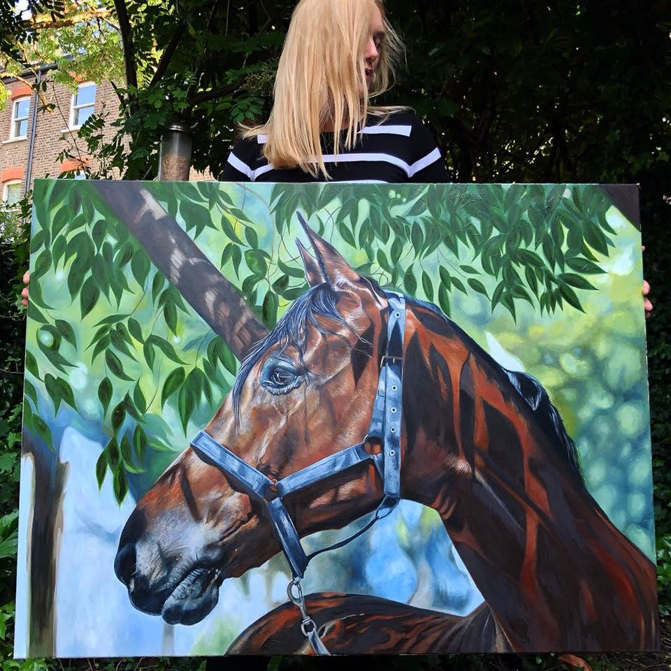 Horse Under Tree | Horse Art | Horse Decor