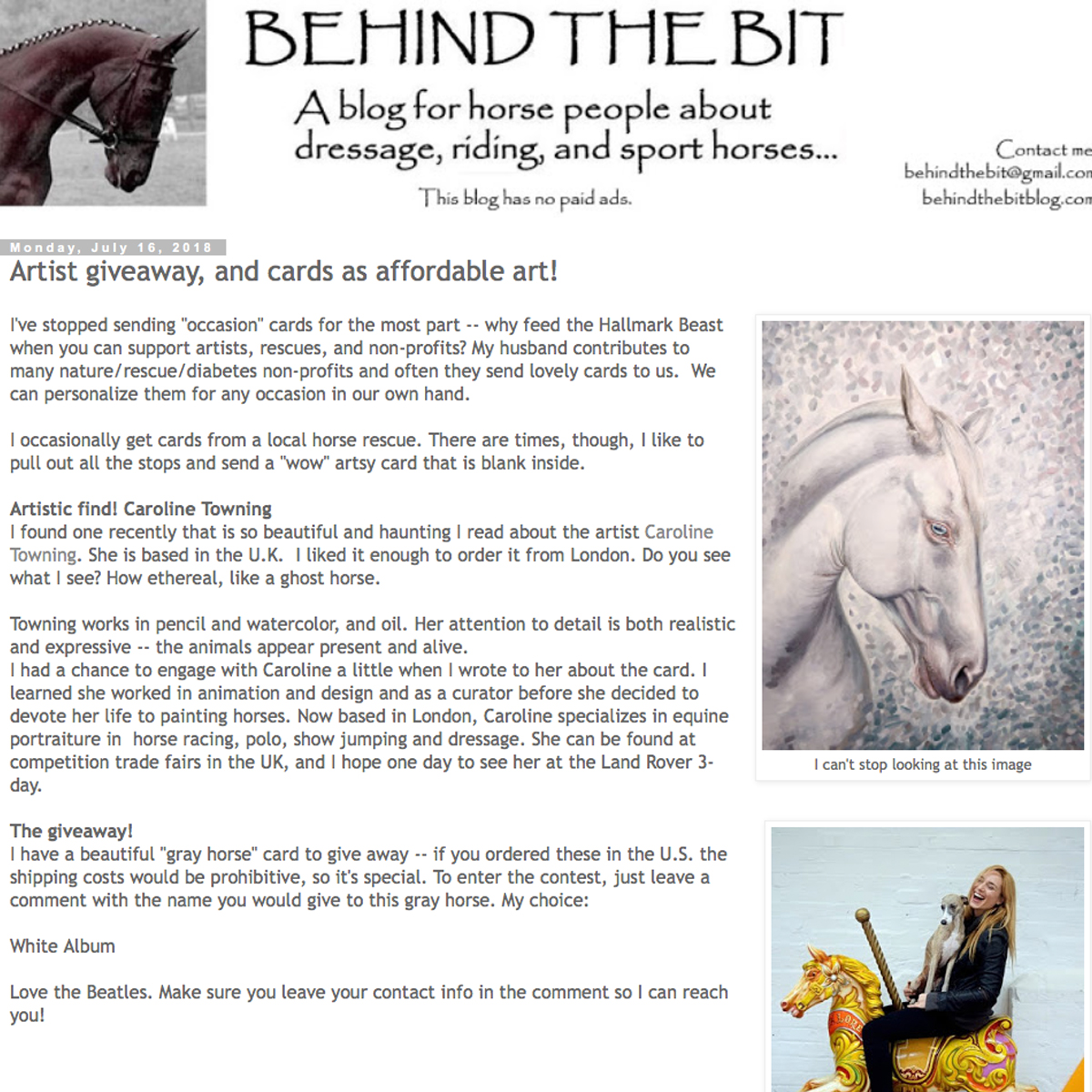Behind The Bit Equestrian Blog
