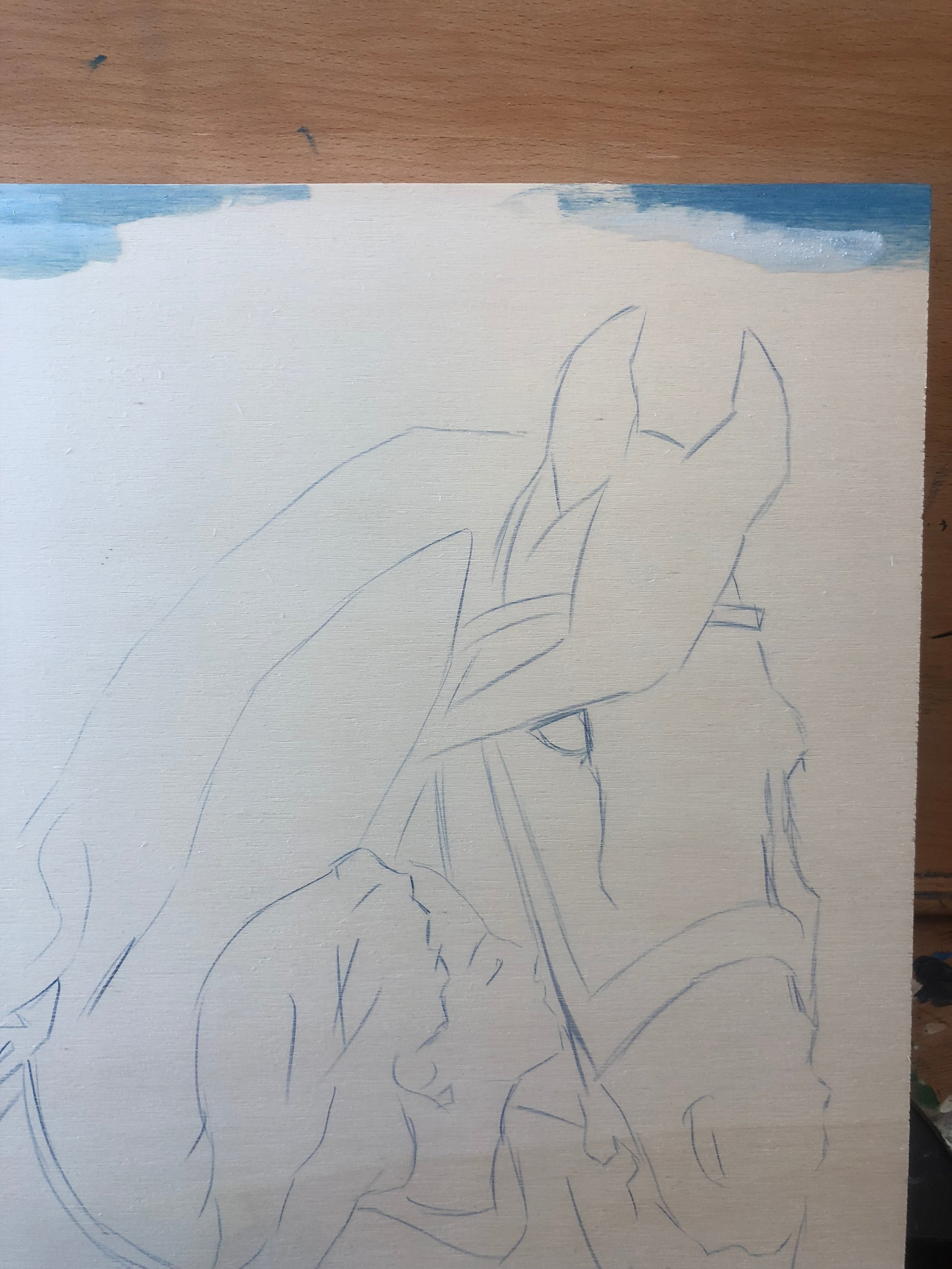 Friesian Horse | Horse Art | Portrait Painting