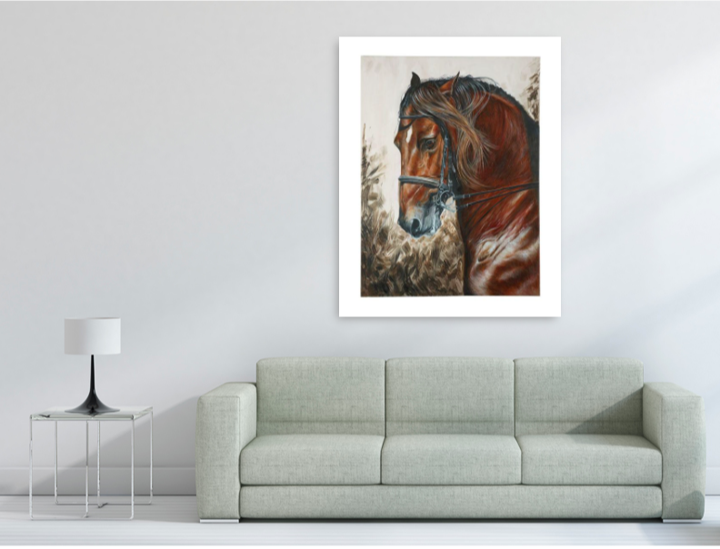 Limited Edition Giclée Horse Print- ACTUAL SIZE OF LARGE PRINT