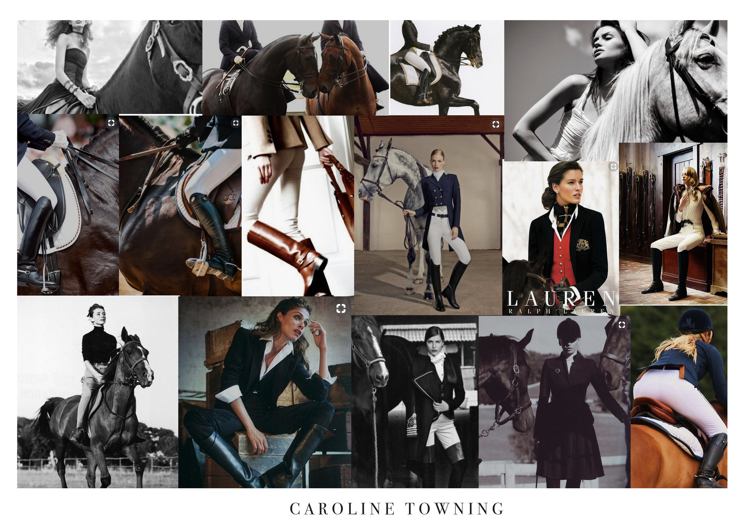 Caroline Towning Mood Board woman and horses