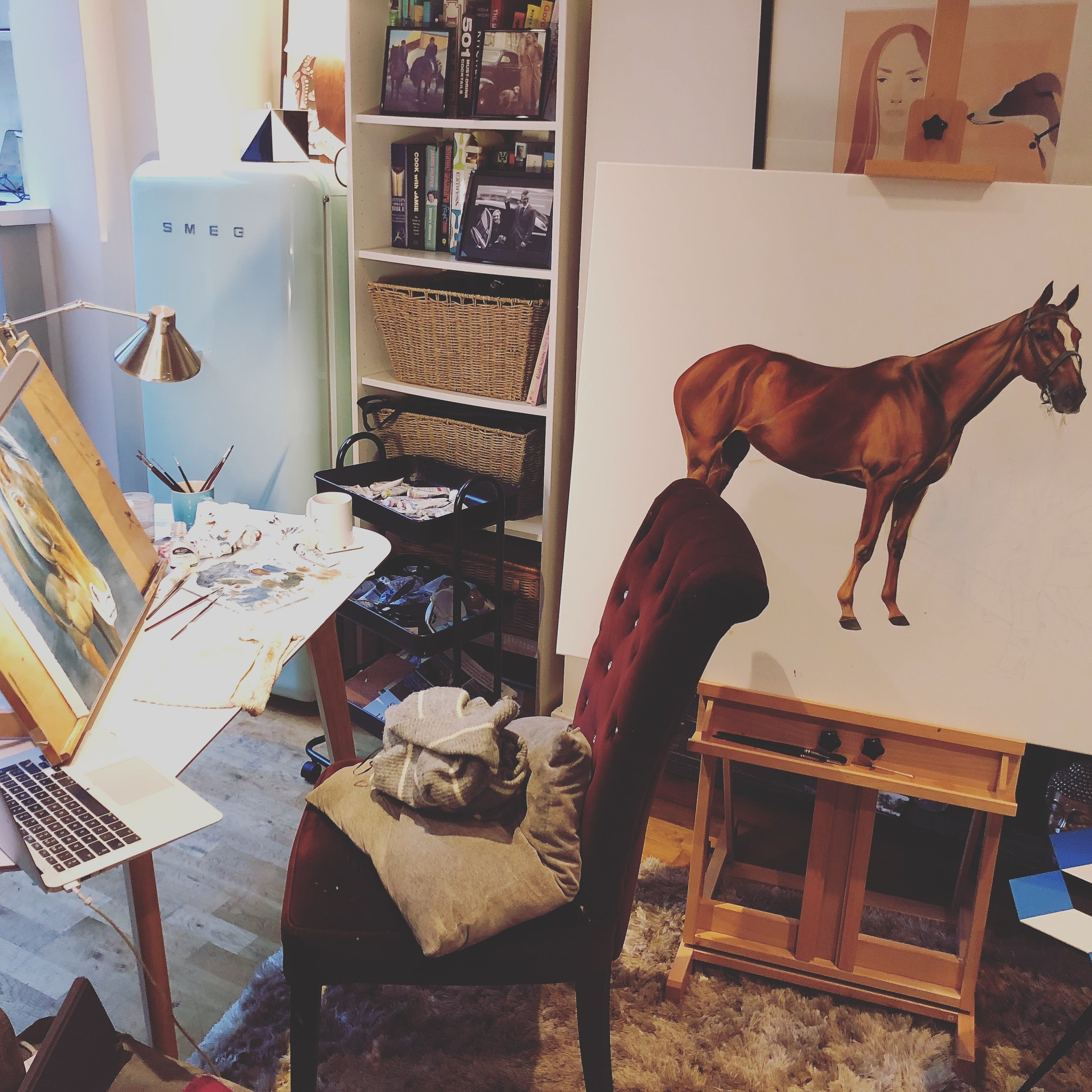 Painting Bespoke Portrait Commissions | Horse Portrait | Making of Horse & Owner Painting