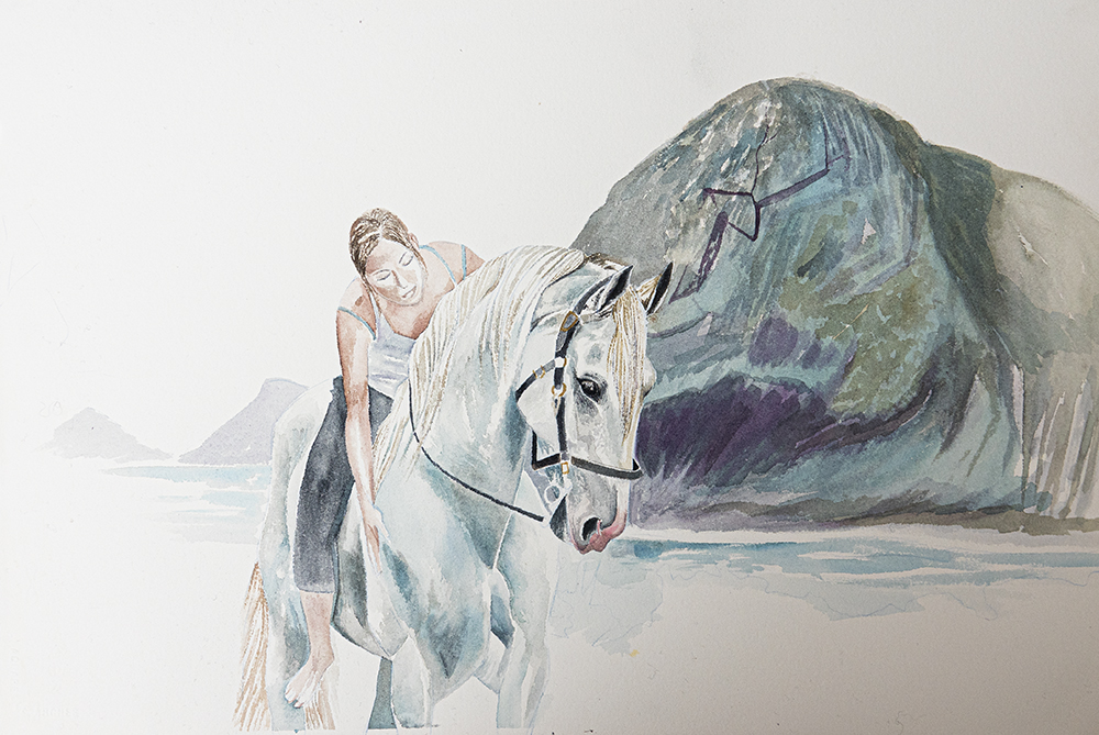 horse and women