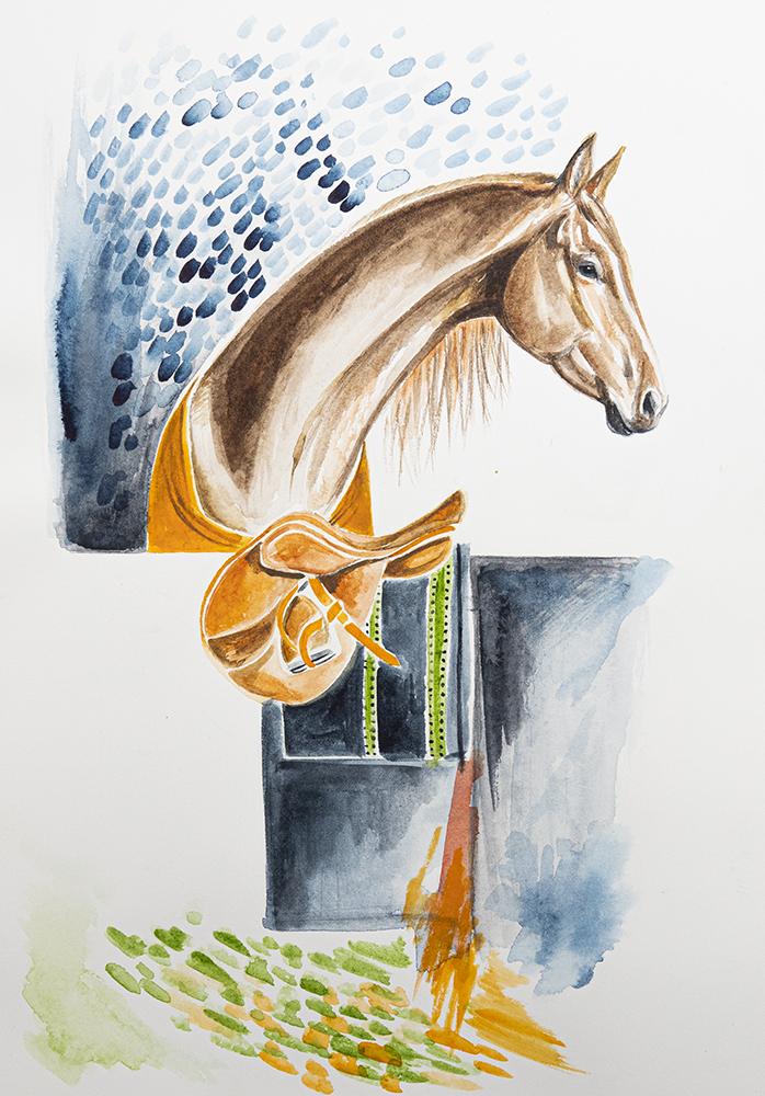 Horse Art   Watercolour Horse