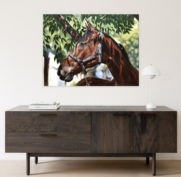 Horse Portrait   Horse Art   Equine Art