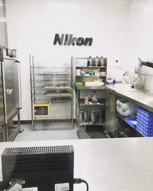 One of Nikon's tint rooms