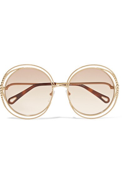 Gold Carlina £295, Eyesite Opticians