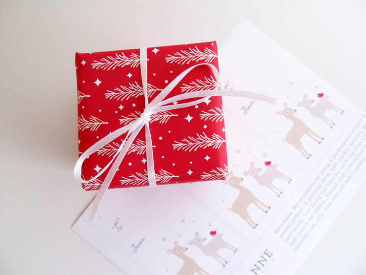 Wrapped gift using printable sheet