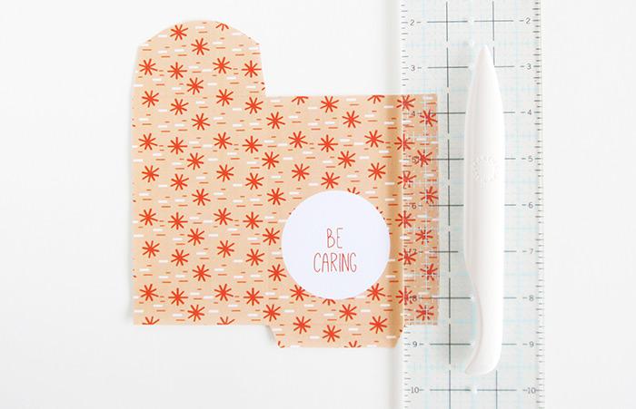 paper bag tutorial cut out template