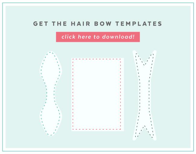DIY Hair Bow sewing templates