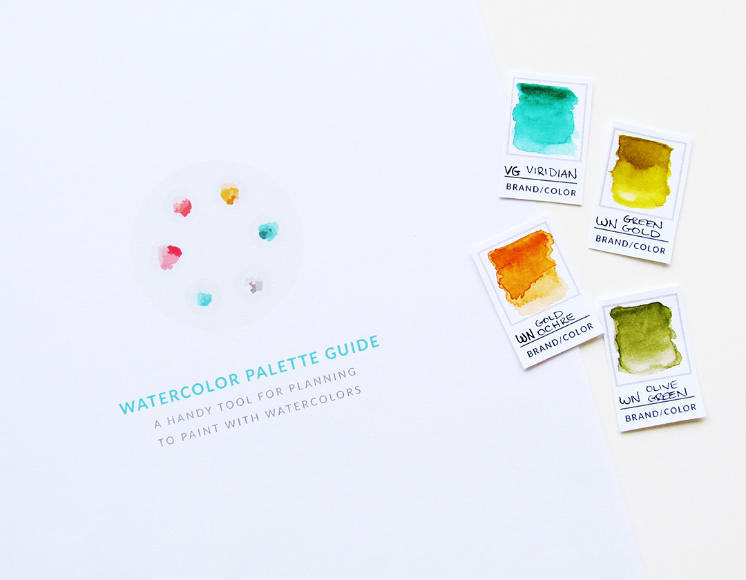 Watercolor Palette Guide a tool for planning to paint with watercolor