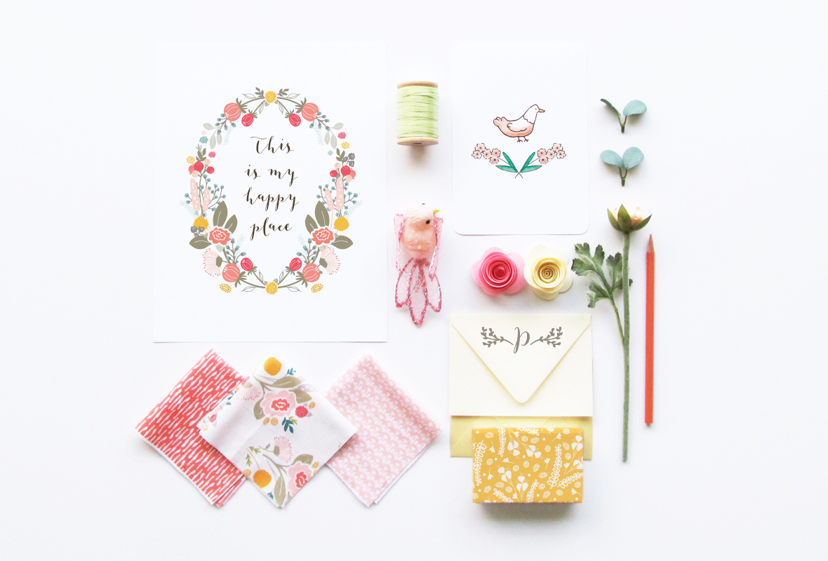Creating a flat lay image for my web site home page