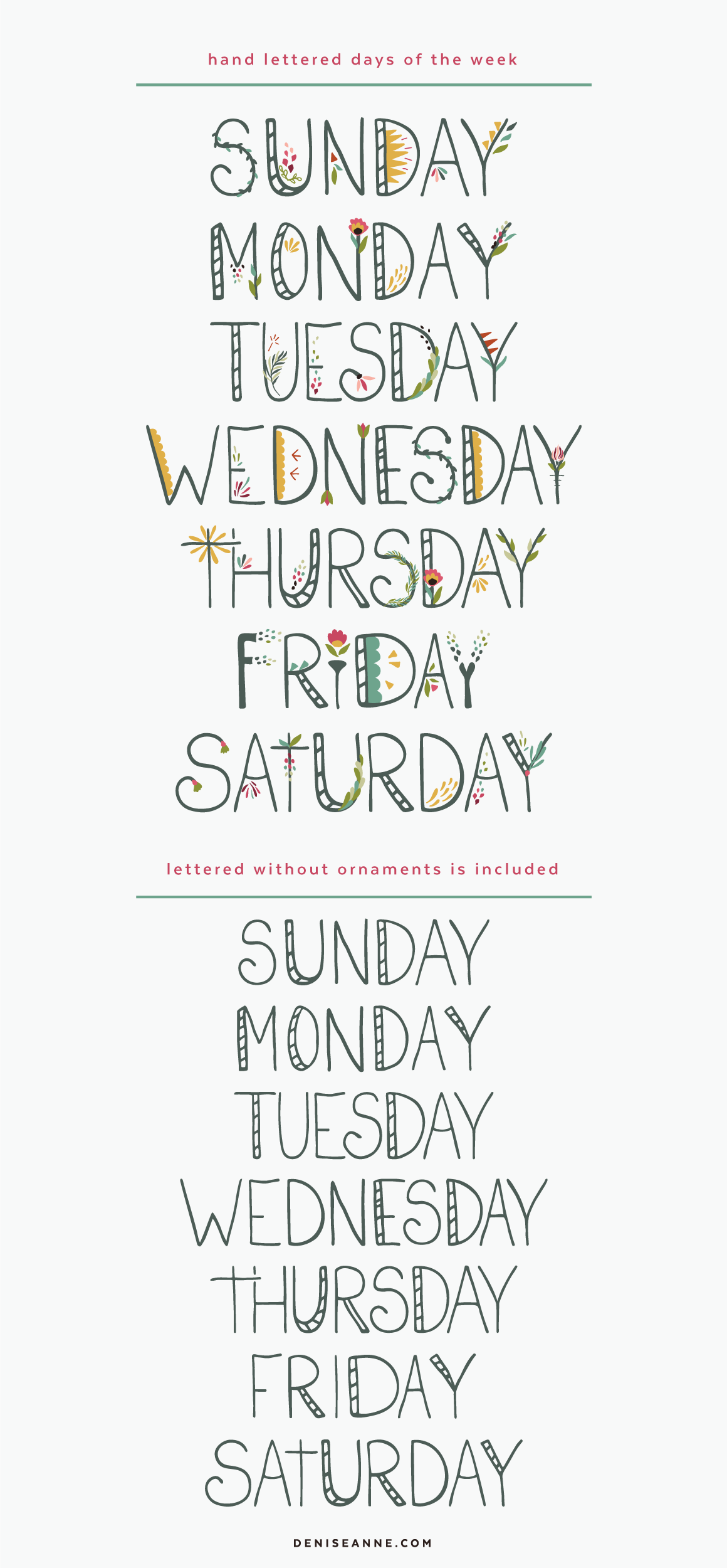 hand-lettered-days-of-the-week