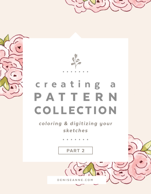 Creating a Pattern Collection How to color and digitize sketches