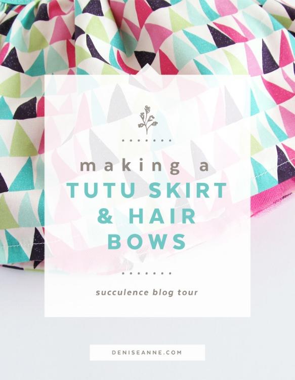 Succulence blog tour tutu skirt and hair bows