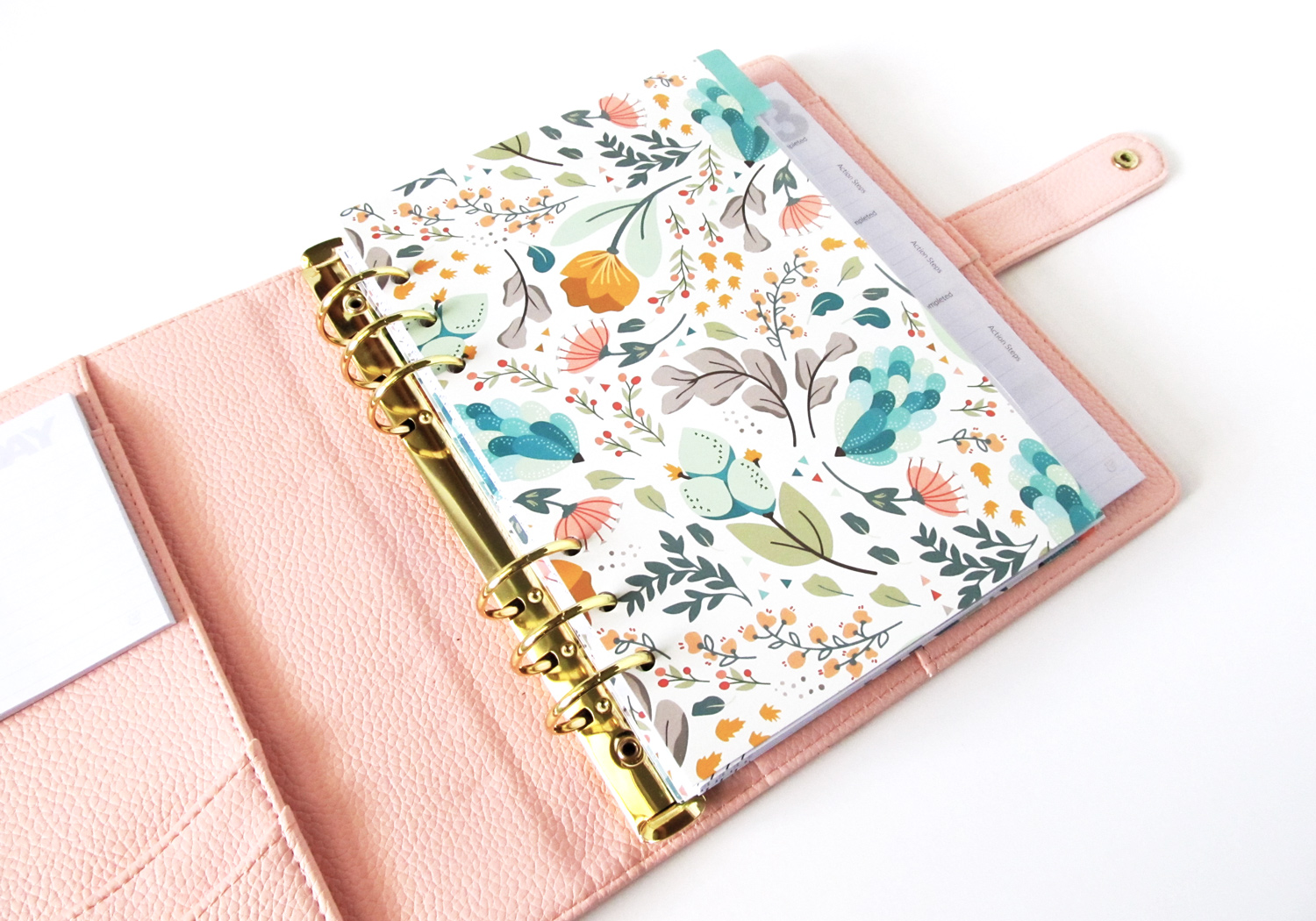 green-and-lyme-planner-with-pattern