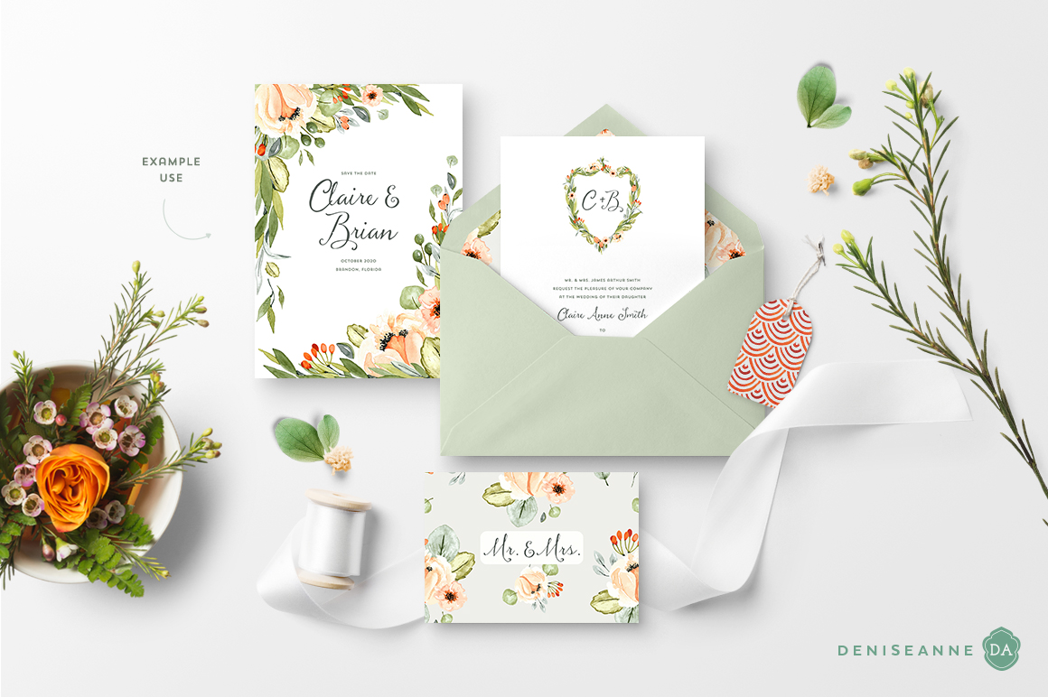 Example use of the watercolor graphic elements