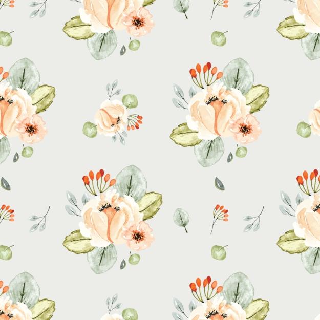Orchard Park Floral - Digital Paper Sheet - Click image to download