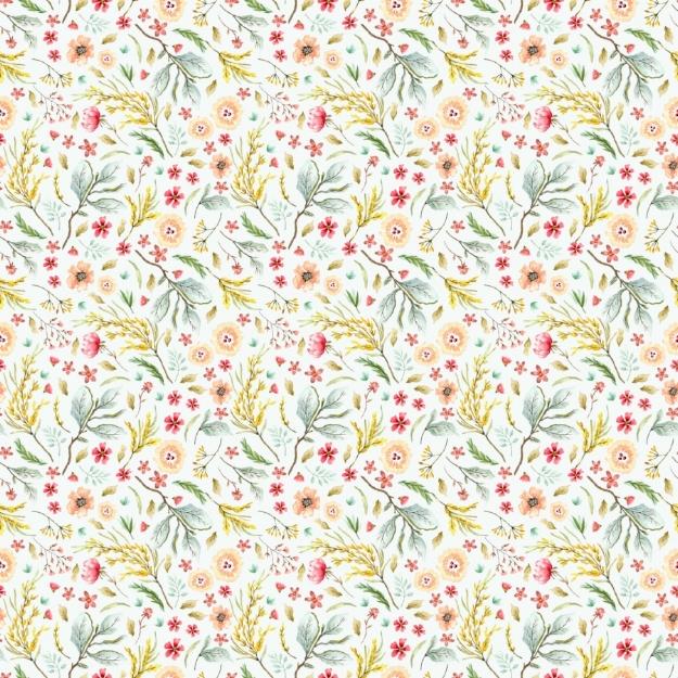 Wildflower Fields Mint - Digital Paper Sheet - Click image to download