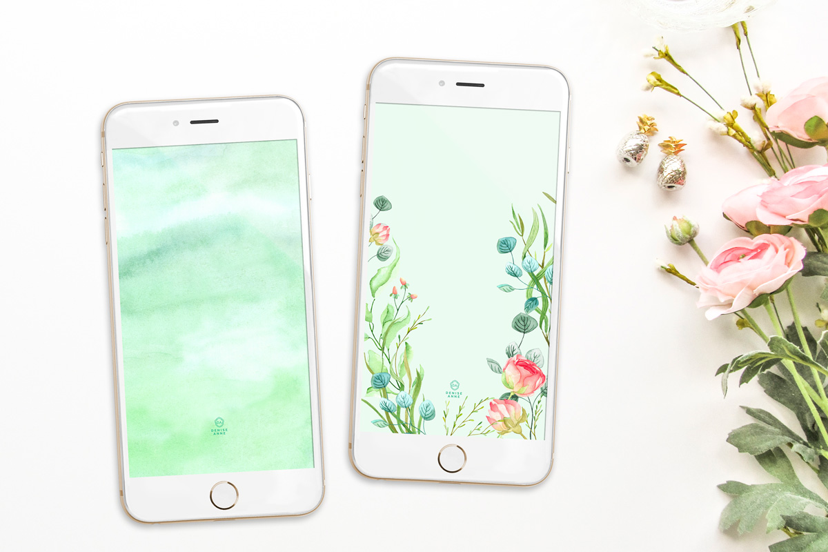 Get these watercolor springtime iphone wallpapers