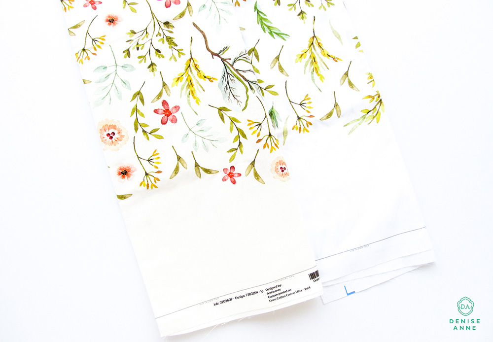 How to make a tea towel using custom printed fabrics