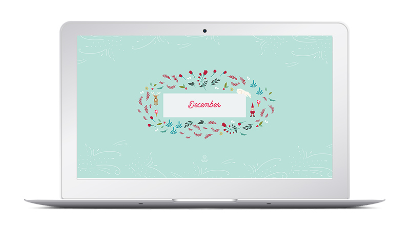 December North - Christmas Desktop Wallpaper Design