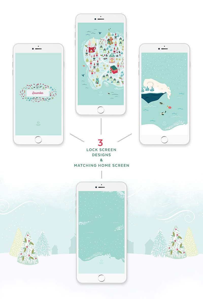 Free Christmas Phone Screen Wallpapers