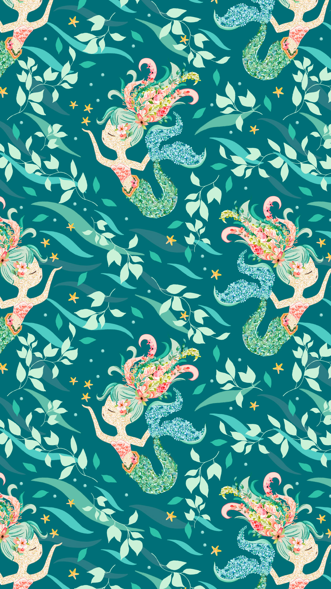 saltwater shores - A collection of whimsical tropical patterns