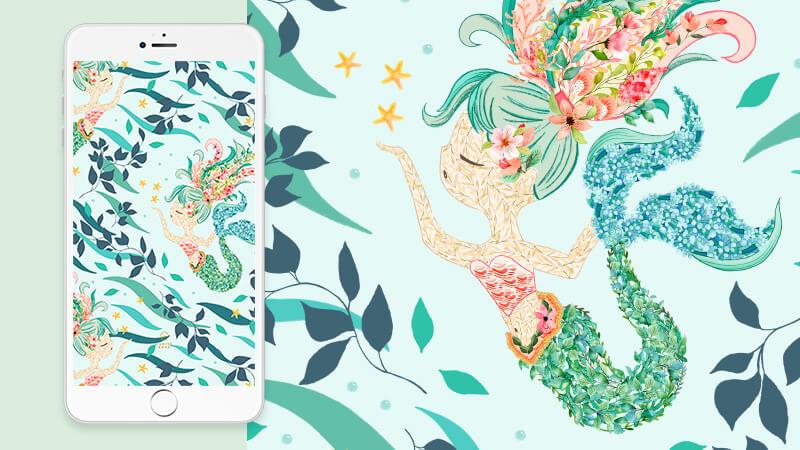 Free Sealife Mermaid Wallpaper Phone Background