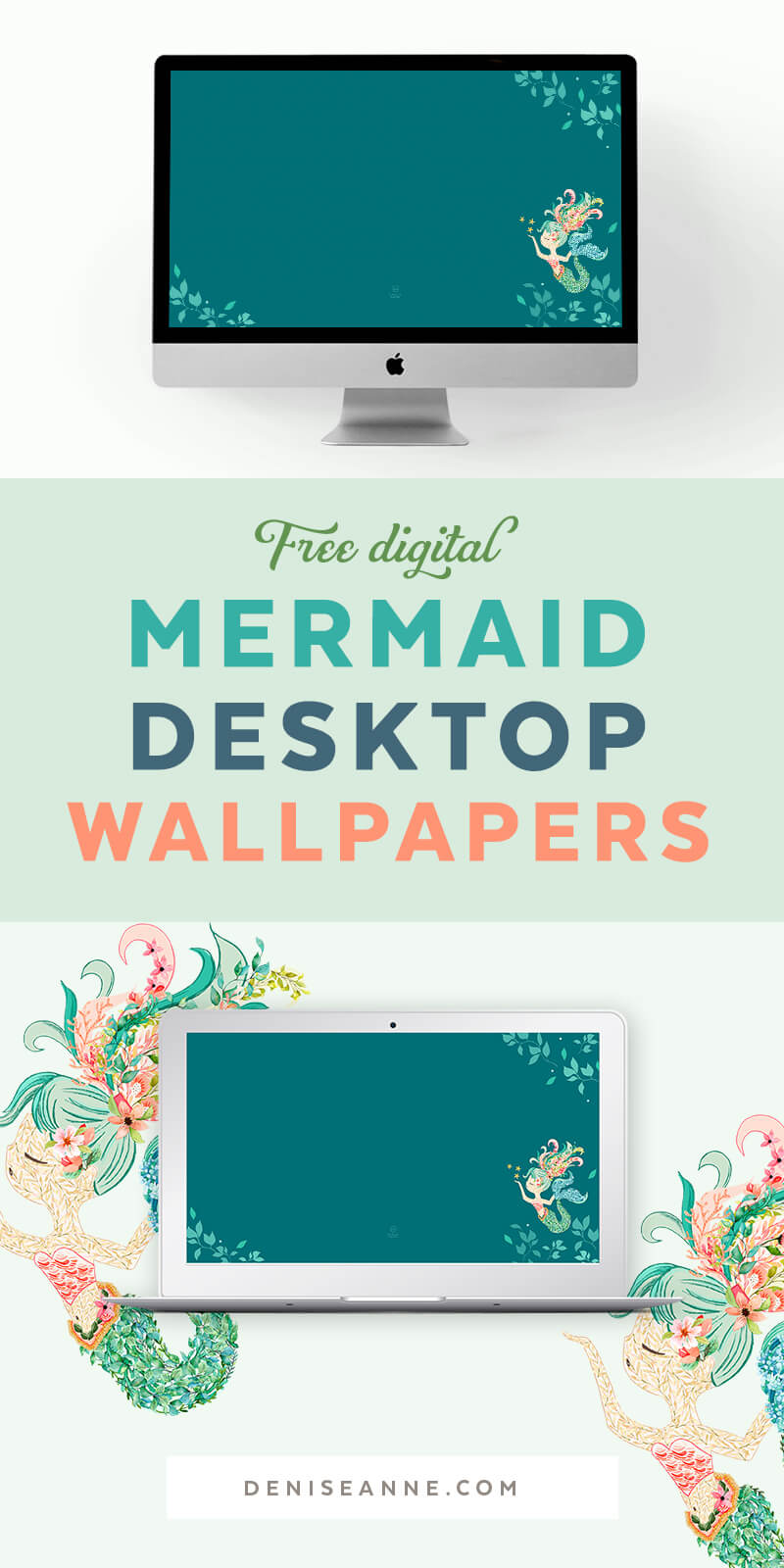 Free Mermaid Desktop Computer Wallpapers