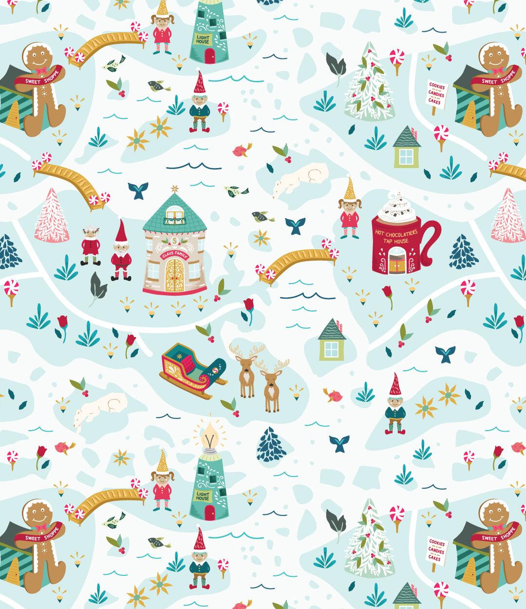 santa's north - A North Pole Village Collection