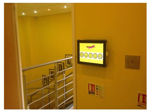 One of Webmart's Happy Meter terminals